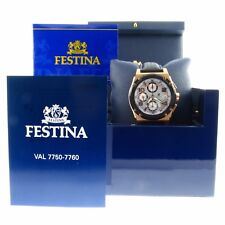 MENS FESTINA 18K ROSE GOLD SHOCKWAVE CHRONOGRAPH AUTOMATIC WATCH,VALJOUX 7750
