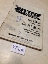 Yamaha parts list FS1 50 1977 FS1-DX Fizzy type 2G0