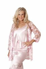 New Womens Plus Size Nightsuit Satin Ladies Faux Silk Gown Slip PJ Set Floral