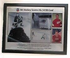 Electro-plate collage of Gordie Howe - Recording breaking 545th goal
