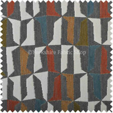 Telas y tejidos geométricos color principal gris para costura y mercería