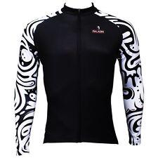 Paladin Black Wave Cycling Clothing Bike Bicycle Long Sleeve Cycling  Jersey Top
