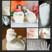 3D Hand u0026 Fuß Druckform für Baby Puder Gips Handabdruck Denkmal Fußabd C9H2