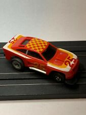 1977 Ideal TCR Cobra - Jam Slot Less, HO Slot Car Red Checkers #25, For Repair