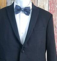 Neil Barrett Men's Slim Fit Black Tuxedo Jacket 40R Working Cuffs Ticket Pocket