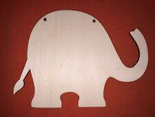 10 x large ELEPHANT PLAQUES SHAPES UNPAINTED WOODEN HANGING DOOR CRAFT PLAQUE
