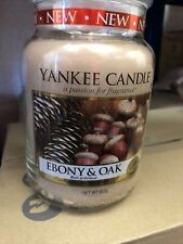 Yankee Candle Large Jar Ebony And Oak Retired Scent