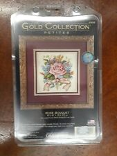 """Dimensions Cross Stitch The Gold Collection Petites """"Rose Bouquet"""" New, Bargain!"""