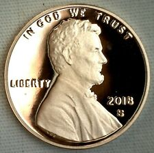2018 S PROOF Lincoln Shield One Cent Coin Made in USA 1c Penny - In Stock
