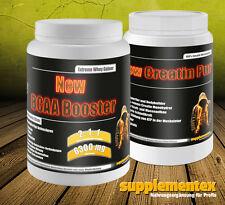 Creatin Pur+BCAA Booster! Amino Protein Kreatin Anabolika Testo Eiweis Fettabbau