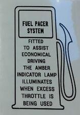 "Mitsubishi Chrysler ""Fuel Pacer"" Sticker Sigma PWS GLX SE GL"