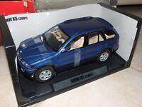 BMW X5 Bleu 2001 MOTORMAX 1:18