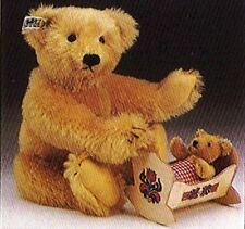 "1985 Steiff ""Giengen Teddy Set"" with momma & baby mohair bears is Mint in Box!"