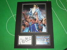 Manchester City Edin Dzeko Signed 2013/14 Premier League Champions Mount