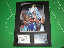 Manchester City Edin Dzeko Signed 2013/14 Premier League Champions Mount
