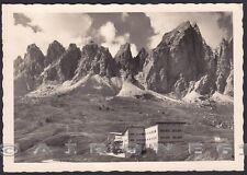 BOLZANO BOZEN PASSO GARDENA 04 Grödner Joch RIFUGIO CIR Cartolina FOT. viag 1953