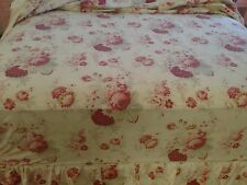 WAVERLY NORFOLK VINTAGE ROSE GARDEN SHABBY CHIC FULL / DOUBLE FITTED SHEET EUC
