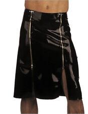 100% Latex Rubber Gummi Fashionable Mens Skirt 0.45mm Dress Catsuit Uniform