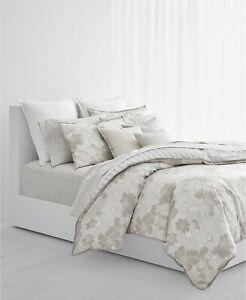Ralph Lauren Home Allaire FULL/QUEEN 3-PC Comforter Set Grey Floral Cotton $385N