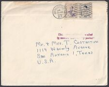CAMBODIA US 1953 FRANKED CAMBODIA STAMPS TIED WASHINGTON DC DIPLOMATIC POUCH MAI