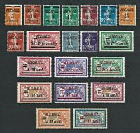DR Memel Germany Rare WWI Stamp 1922 Overprint Occup Service Stamp Full Set Mint