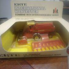 Vintage ERTL International Harvestor Toy Combine With Interchangeable Heads...