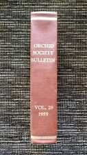 RARE VINTAGE 1959 American Orchid Society Bulletin 12 Issues Vol 28: Hardcover