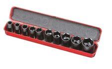 Coffret 10 douilles clé à choc longueur 38mm en chromé vanaduim