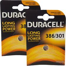 2 x Duracell 386 D386 SR43W 280-41 Watch Batteries