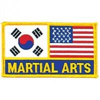 """Korean and USA Flag Martial Arts Patch - 5"""""""