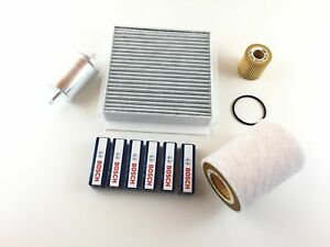 4 X Filter + 6x Bosch Ignition Plug Smart Cabriolet City-Coupe 450 0.6