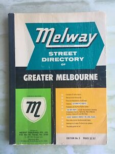 Street Directory Of Greater Melbourne - MELWAY - 1969 - Edition No 3 SoftCover