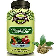 Whole Food Multivitamin for Men for Heart Brain & Eye Health 120 Caps