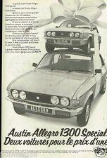 Publicité advertising 1978 Austin Allegro 1300 Special austin Leyland