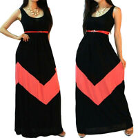 Plus Size Women Sleeveless Maxi Long Dress Summer Casual Party Holiday Sundress