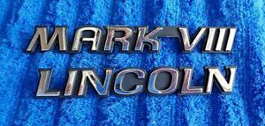OEM 93-96 Lincoln Mark 8 VIII Chrome Trunk Deck Lid Ornament Nameplates Emblem