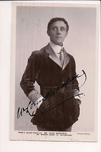 Vintage Cppr Autographié Par Avec Louis Bradfield Anglais Acteur Et Singer