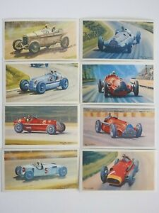 Collectible 1971 Trading - Mobil - The Story Of Grand Prix Motor Racing 8 Cards