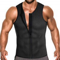 Men's Sweat Waist Trainer Vest for Weight Loss Top Neoprene Body Shaper Slimming