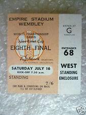 BIGLIETTO COPPA DEL MONDO 1966-Inghilterra V Messico, 16 Luglio (ORIGINALE * eccellente *)