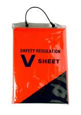 V SHEET Brightly coloured orange PVC sheet with a large black 'V' - Boating
