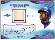 2019 In The Game Used Sports SAMMY SOSA Autograph Bat Purple #11/15