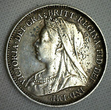 1900 Great Britain 6 Pence KM# 779 XF World Coin Silver Genuine English #P