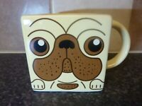 SPINNING HAT SQUARE PUG DOG MUG 2012 VERY GOOD CONDITION