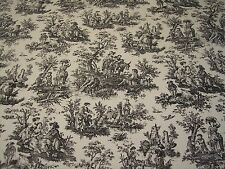 """*BLACK ON WHITE~WAVERLY """"Rustic Toile"""" 54""""W DECORATOR FABRIC BTY~FREE SHIPPING"""
