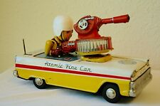 Nomura Japanese Made Vintage Tin Litho Battery Operated Toy Atomic Fire Car