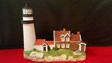 "Harbour Lights 1995 Highlands Massachusetts Lighthouse Figurine #161 6.5x4x5.5""h"