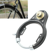 Bike Bicycle Lock Pad Vintage Lock Wheel Lock Set Iron Black w/ 2 keys Sport MTB