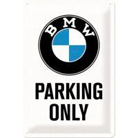 Blechschild BMW Parking Only White,Nostalgie Schild 30 cm ,NEU,metal shield