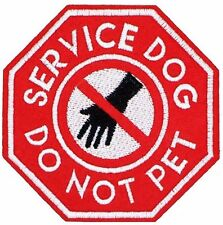 SERVICE DOG PATCH, DO NOT PET PATCH, SERVICE DOG DO NOT PET  APPLIQUE(SDH-622)